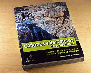 Portada Cañones y barrancos de Andalucía.